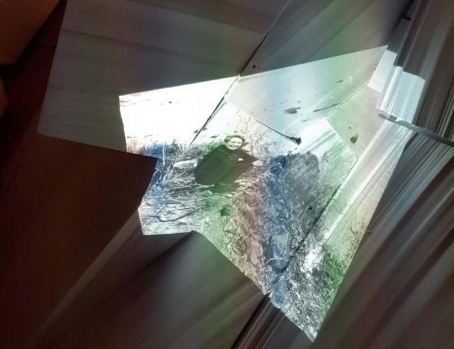 Ausstellungsansicht Detail (Video Angela groß)